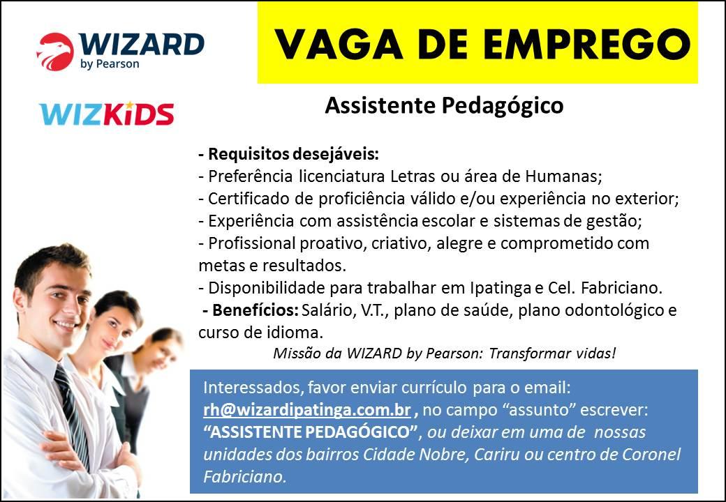 Wizard - Vaga Assistente Pedag�gico